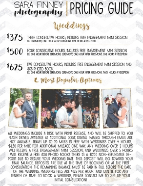 PRICING GUIDE-weddings